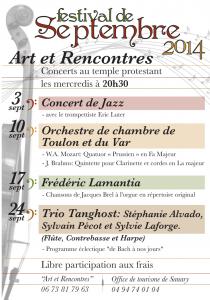 Affiche concerts Sanary